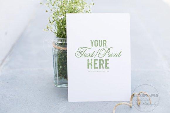 Garden wedding invitation mockup product mockups creative market stopboris Images