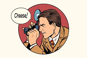 Pop art photographer cheese