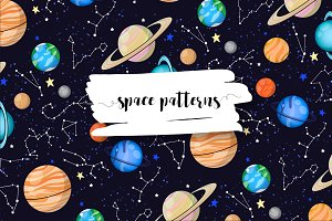 Space patterns and illustrations