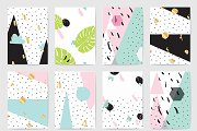 Creative cards, abstract backgrounds