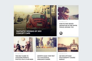Blog ui interface (PSD)