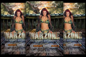 Warzone House Flyer