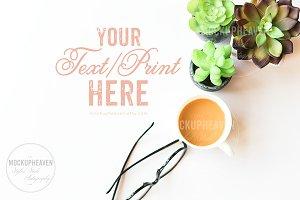 Succulents & Coffee Office Desktop#2