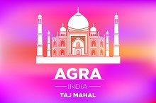 AGRA INDIA Taj Mahal vector