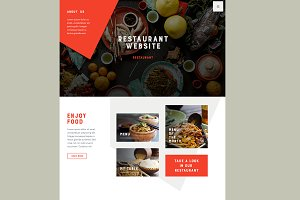 Restaurant site PSD (home+menu)