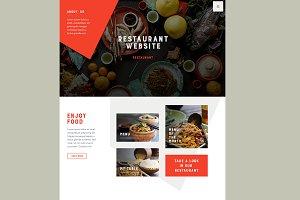 Restaurant site PSD (home+menu)