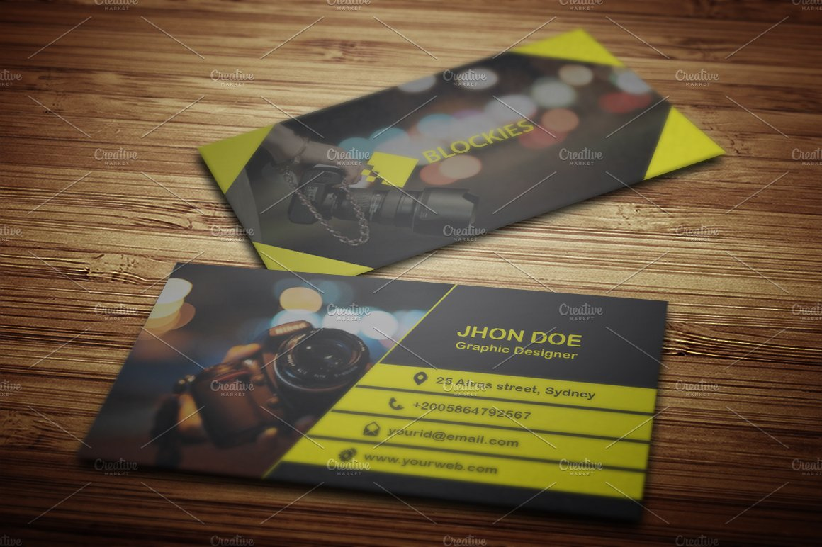 Photography business card template business card templates photography business card template business card templates creative market cheaphphosting Image collections
