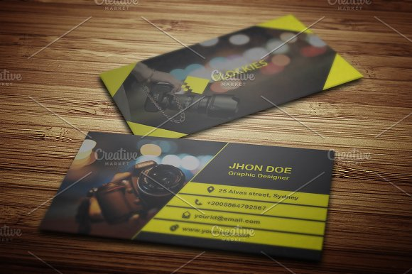 Photography Business Card Template Business Card Templates - Photography business card templates