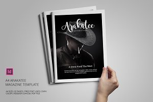 A4 Arakatee Magazine Template