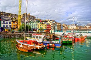 Cobh Town Harbour in Ireland
