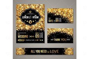 Gold Shine Wedding Cards