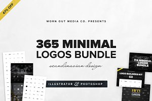 [44% OFF] 365 Minimal Logos Bundle