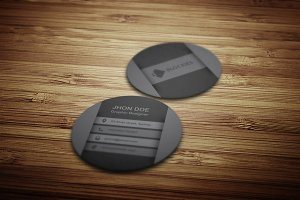 Circular Business Card Template