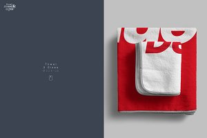 Towel 2 Sizes Mockup
