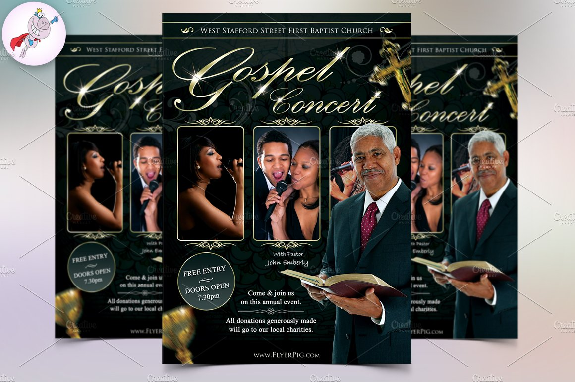 Church Flyer V1 Flyer Templates Creative Market