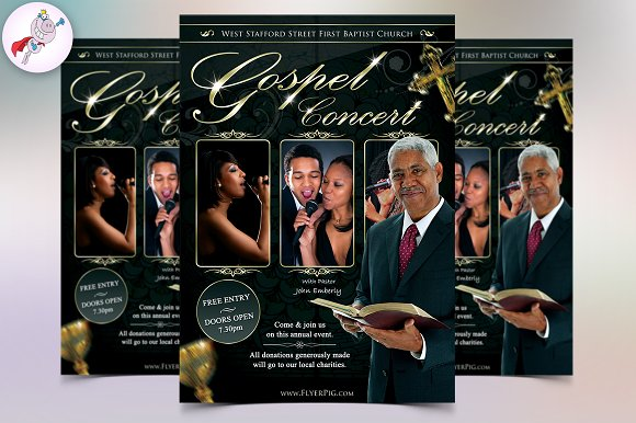 Gospel Flyer Template Flyer Templates Creative Market