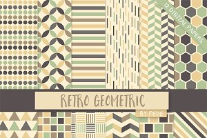 Retro geometric digital paper