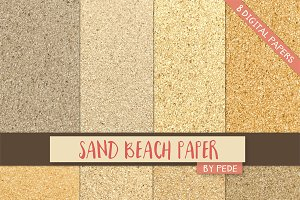 Sand beach digital paper