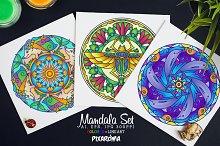 Vector Animals Mandala Set