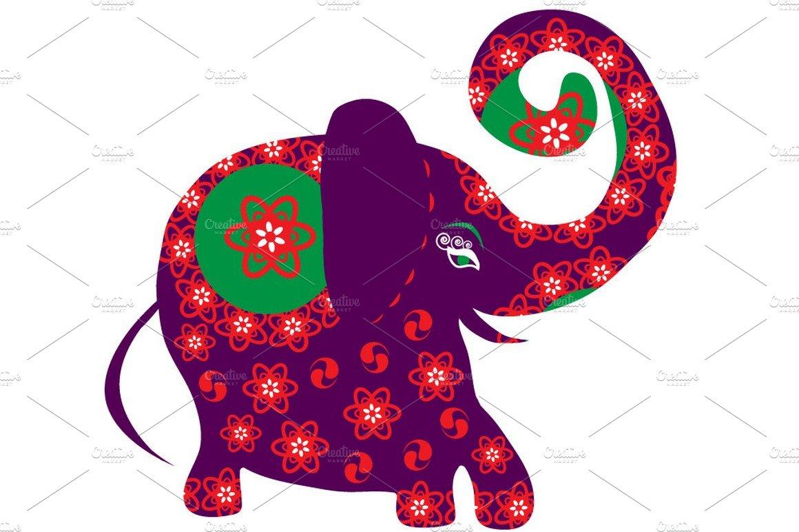 Bright cartoon elephant illustrations creative market buycottarizona Images