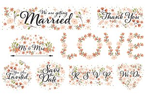 Wedding Clipart Designs PNG and EPS