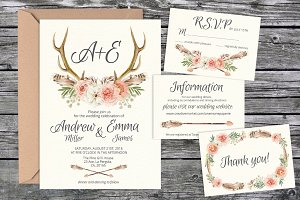 Wedding invite suite templates 03