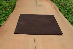 Leather Mouse Pad on Wooden Surface