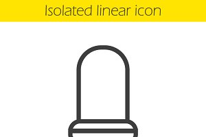 Chair linear icon. Vector