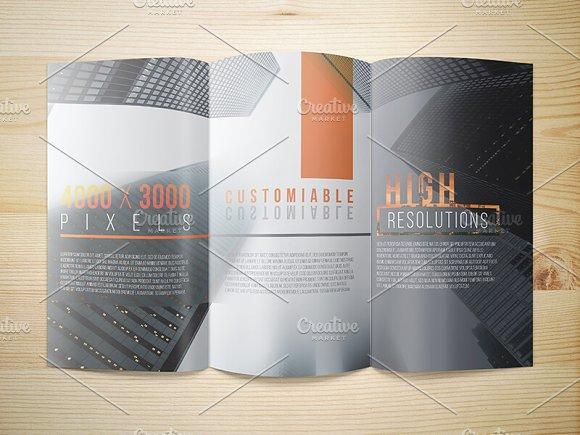8.5x14 Legal Trifold Brochure Mockup in Print Mockups