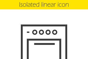 Stove linear icon. Vector