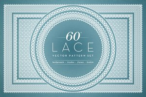 Digital Lace Borders & Backgrounds