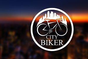 city biker logo