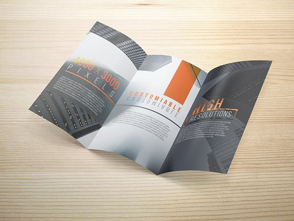 8.5x14 Legal Trifold Brochure Mockup in Print Mockups - product preview 2