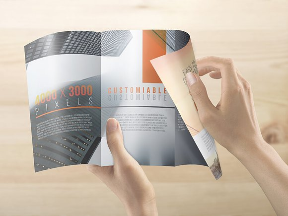 8.5x14 Legal Trifold Brochure Mockup in Print Mockups - product preview 5