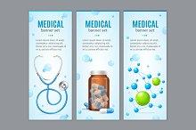 Medical Banner Set. Vector