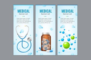 Medical Banner Set. Vector