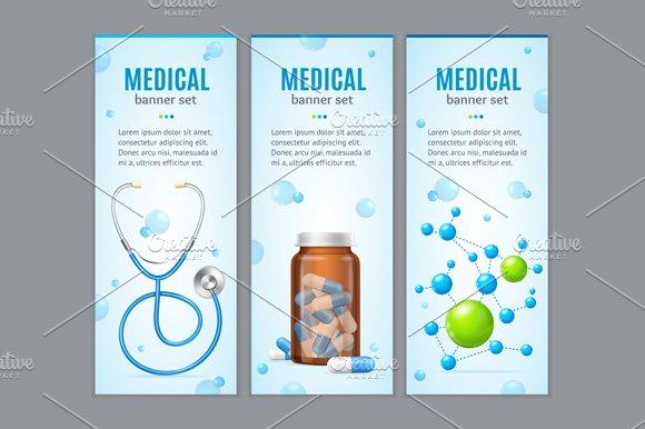 Medical Banner Set. Vector - Illustrations