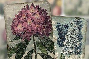 Vintage Floral Tags Printable PDF