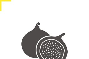 Fig icon. Vector