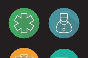 Medicine. 4 icons. Vector