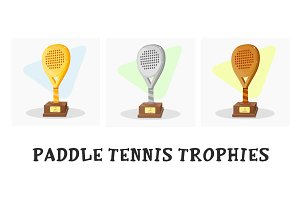 Paddle tennis trophies
