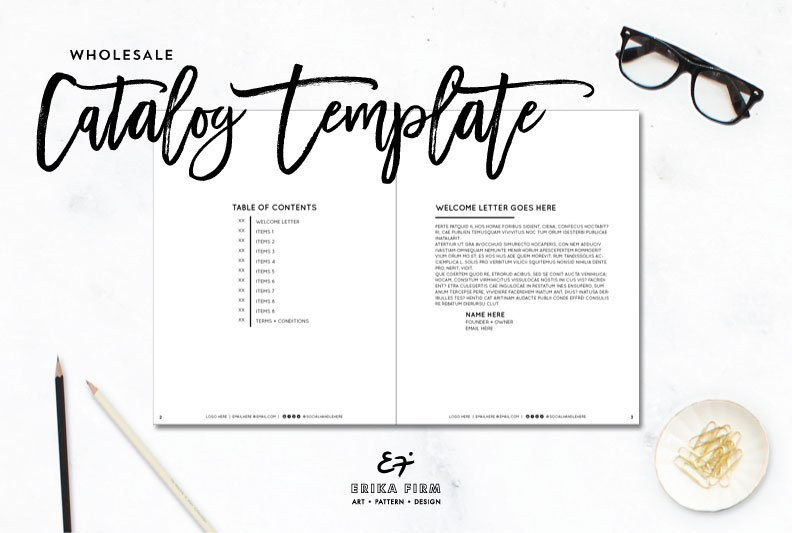 InDesign Wholesale Catalog Template ~ Magazine Templates