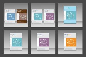 Brochure square pattern design Vol.2