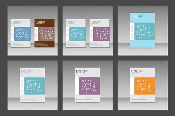 Brochure square pattern design Vol…