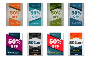 Brochure 50% off design template