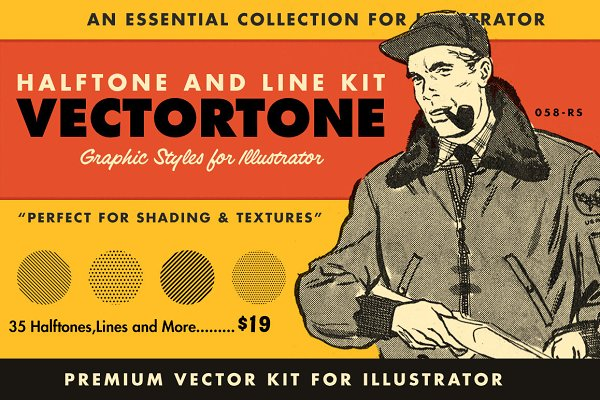 VectorTone | Retro Halftone Brushes