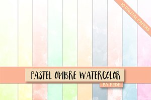 Pastel ombre watercolor