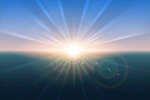 Sunrise vector glow background