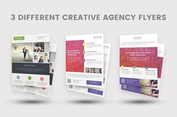 creative agency flyer flyer templates creative market