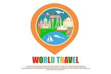 World Travel Badge as GPS mark